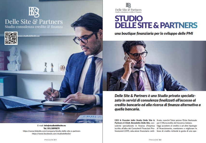 Benedetto Delle Site Ceo & Founder dello Studio Delle Site consulente specializzato in finanza d'impresa